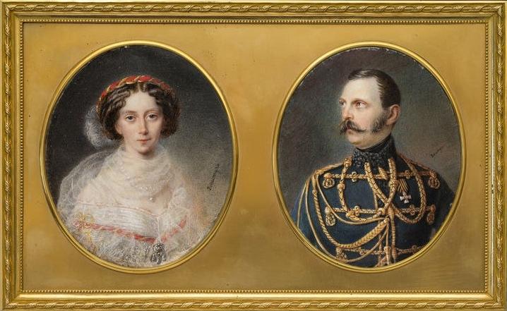 Портреты императрицы Марии Александровны и императора Александра II (Аллоизий Рокштуль)