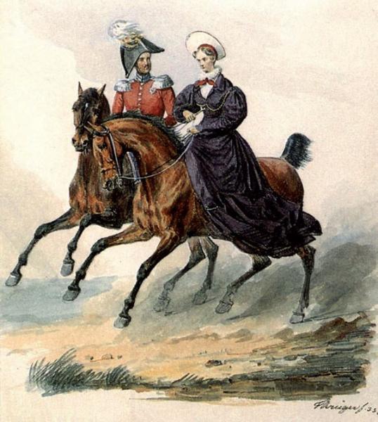 Николай I и Александра Фёдоровна (Франц Крюгер, 1833)